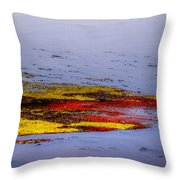 Psychedelic Algae  Throw Pillow by Thomas Young