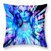 Psychedelic Barbie Throw Pillow