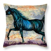 Psychedelic Blue Throw Pillow