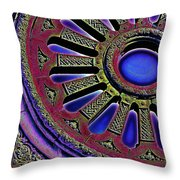 Psychedelic Church Window Throw Pillow