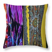 Psychedelic Dresses Throw Pillow