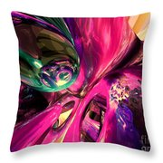 Psychedelic Fun House Abstract Throw Pillow