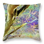 Psychedelic English Park Throw Pillow