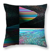 Psychedelic II Throw Pillow