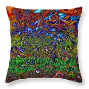 Psychedelic Mind Throw Pillow by Linda Sannuti