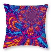 Psychedelic Mind Trip Throw Pillow