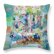 Psychedelic Object Throw Pillow