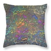 Psychedelic Parking Lot Throw Pillow