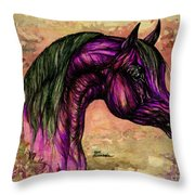 Psychedelic Purple Throw Pillow