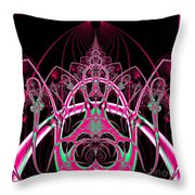 Psychedelic Rollercoaster Tunnel Fractal 65 Throw Pillow