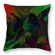 Psychedelic Rose Throw Pillow