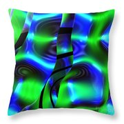 Psychedelic Streamers By Jammer Throw Pillow