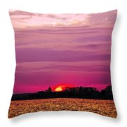 Psychoactive Sunset Throw Pillow