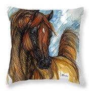 Psychodelic Chestnut Horse Original Painting 2 Throw Pillow