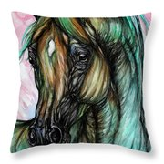 Psychodelic Pink And Green Throw Pillow