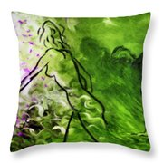 Psychological State In Green Throw Pillow