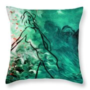 Psychological State Of Emerald Throw Pillow