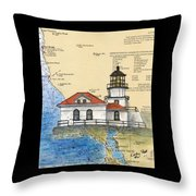 Pt Bonita Lighthouse Ca Nautical Chart Map Art Throw Pillow