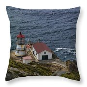 Pt Reyes Lighthouse Throw Pillow
