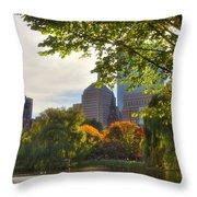 Public Garden Skyline Throw Pillow by Joann Vitali