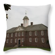 Public Hospital Colonial Williamsburg Throw Pillow