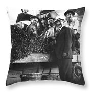 Public Market Vegetable Stand Throw Pillow