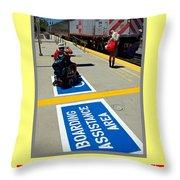 Public Mass Transit Throw Pillow