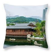 Public Nan Lian Garden Throw Pillow