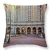 Public Square Cleveland Ohio Throw Pillow