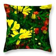 Puck's Garden Throw Pillow