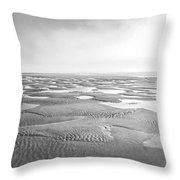 Puddles Of Ocean Left Behind Throw Pillow