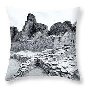 Pueblo Bonito In Black Throw Pillow