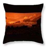 Pueblo Bonito In Orange Throw Pillow