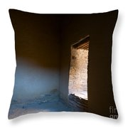 Pueblo Bonito Interior Window Detail Throw Pillow