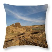 Pueblo Bonito Walls And Rooms Throw Pillow