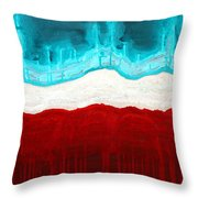 Pueblo Cemetery Original Painting Throw Pillow