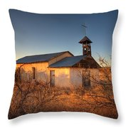 Pueblo Church Throw Pillow