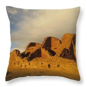 Pueblo Del Arroyo At Sunset II Throw Pillow