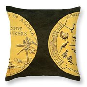 Pueblo Of Acoma Tribe Code Talkers Bronze Medal Art Throw Pillow