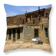 Pueblo Yard Sale Throw Pillow