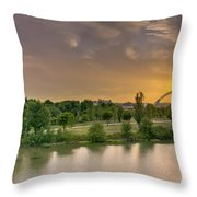 Puente De Lusitania Throw Pillow
