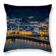 Puentedeume View From Cabanas Galicia Spain Throw Pillow
