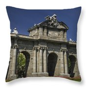 Puerta De Alcala Madrid Spain Throw Pillow