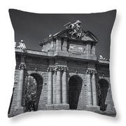Puerta De Alcala Throw Pillow by Susan Candelario
