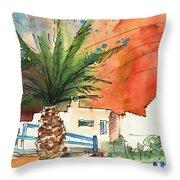 Puerto Carmen Sunset In Lanzarote Throw Pillow