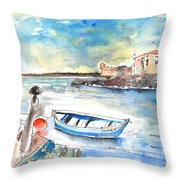 Puerto De La Cruz 02 Throw Pillow
