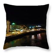 Puerto De La Cruz By Night Throw Pillow