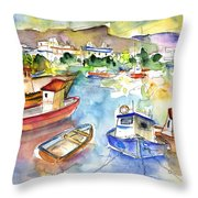 Puerto Mogan 01 Throw Pillow