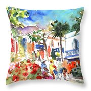 Puerto Mogan 10 Throw Pillow