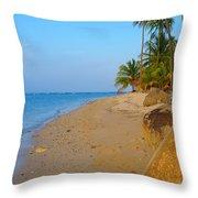 Puerto Rico Beach Throw Pillow